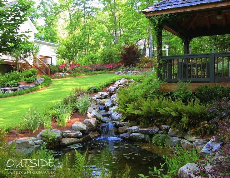 Pondless Водные объекты и Открытый Водопады Alpharetta, Ga  . Вне ландшафтного Group, LLC