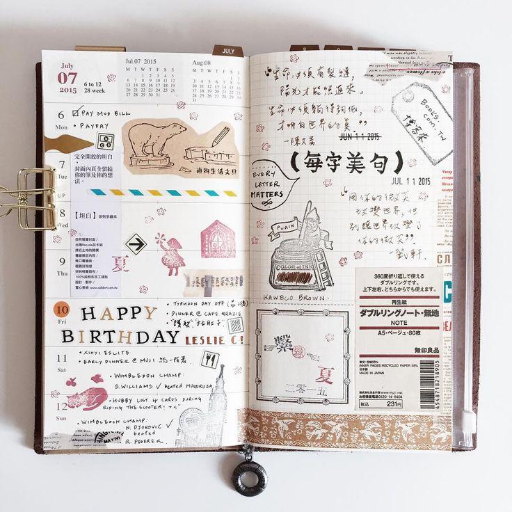 PLANNER - WEEK 28 in my midori travelers notebook