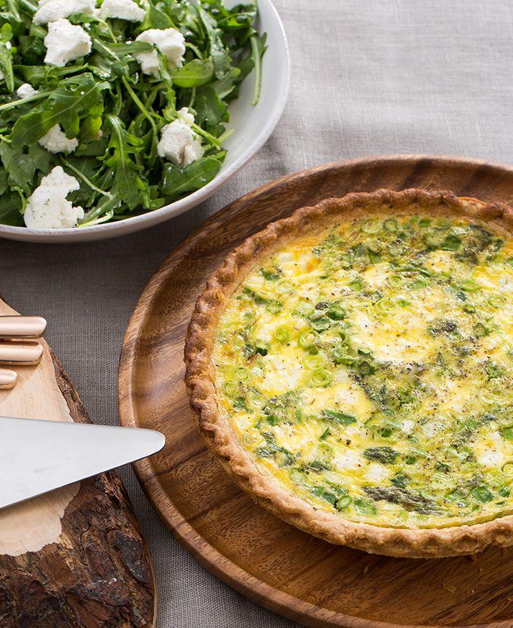Asparagus & Leek Spring Quiche with Goat Cheese & Arugula ...