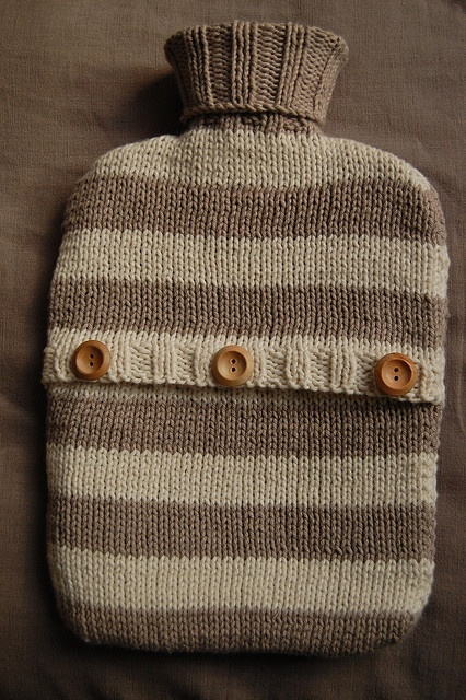 Free! - Grandmas Hot Water Bottle Cover by bessiebear, via Flickr