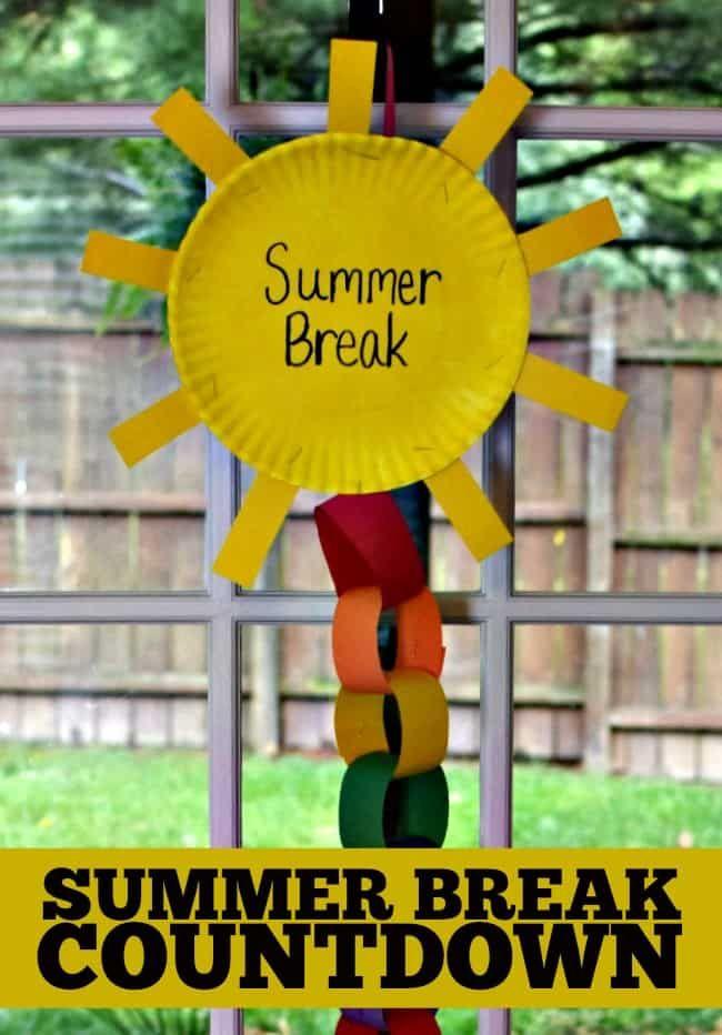 Diese Countdown-Kette für die Sommerpause zeigt die verbleibenden Tage bis zur Sommerpause an …   – Preschool bulletin boards