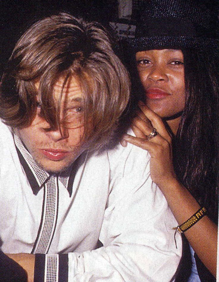 Brad Pitt and Robin Givens - 1989