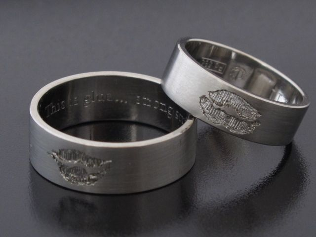#Rings by #Bielak  in usta / in #lips  #palladium  lip #prints  #unique #wedding rings from #Poland  #HandMade