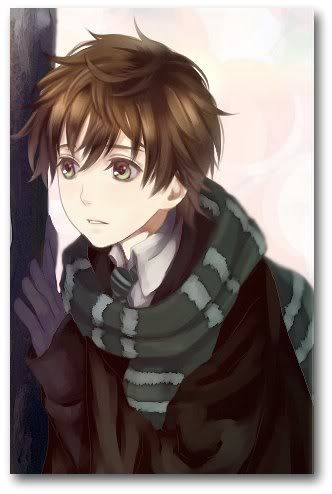 a lot of talented artist out there owo. Cute boy, brown hair, long scarf.