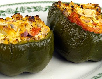 Roasted Ricotta Peppers Recipe: As stuffed, roasted peppers go, this is one of the easier recipes, and the ricotta cheese stuffing makes for a nice change from the usual stuffing of rice. Plus this is a low-sodium recipe. Ricotta is one of the lowest-salt cheeses you can get. You can use low-fat ricotta.