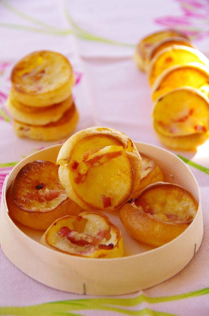 Petits soufflés aux lardons - Le blog de novice en cuisine