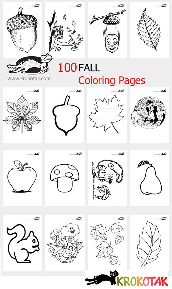 100 FALL Coloring Pages