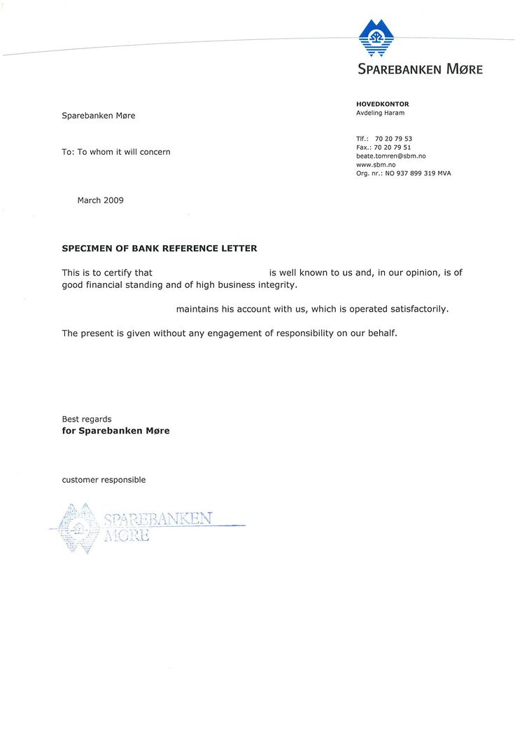 Bank referencepersonal letter cover letter