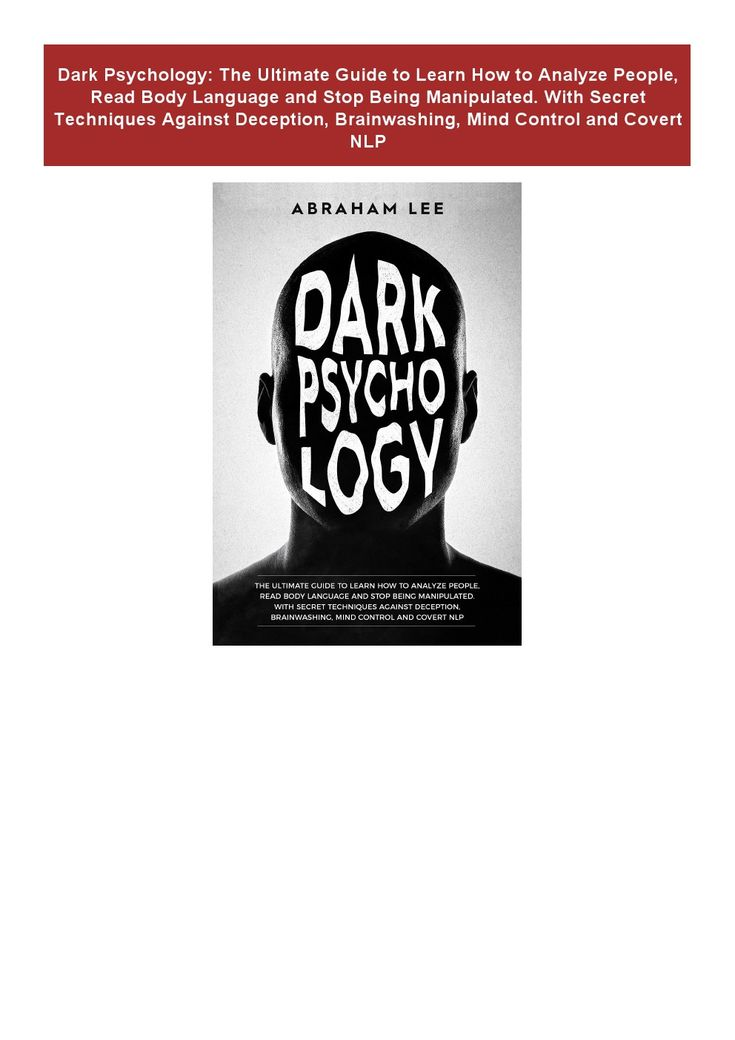 Books pdf dark psychology the ultimate guide to learn