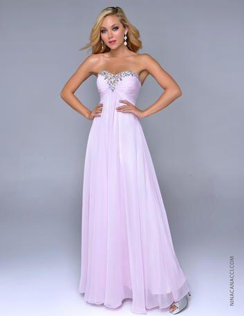 Prom Dresses 2014 - Nina Canacci 4051 Strapless Empire Long Chiffon #tjformal
