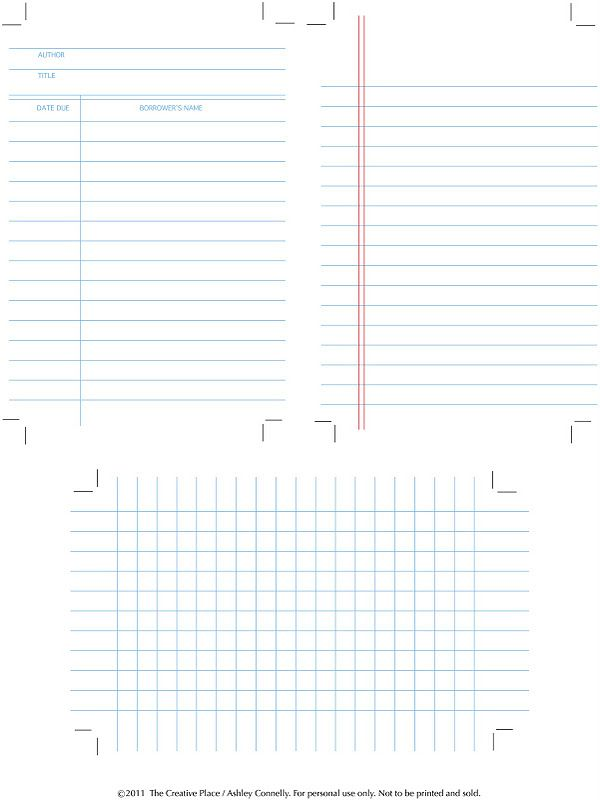 downloadable library cards- perfect for project lifePrintables Libraries, Libraries Cards, Graph Paper, Libraries Graph, Free Download, Journals Cards, Note Cards, Free Notebooks, Free Printables
