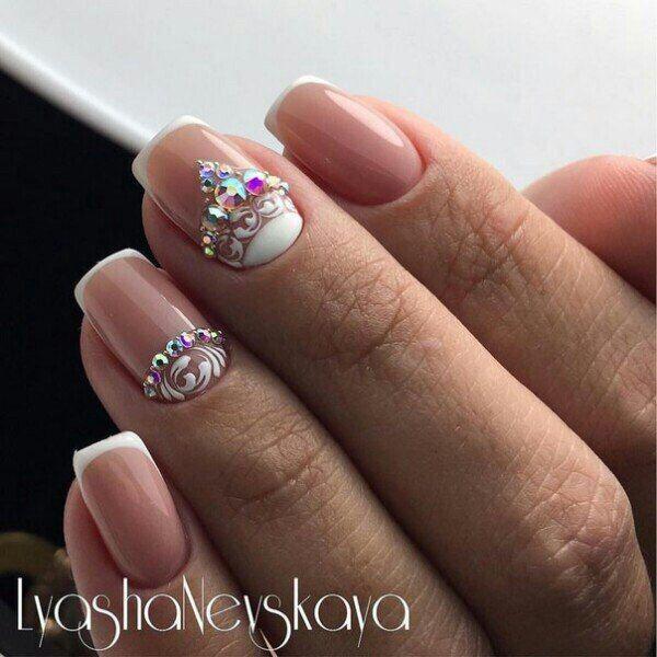 @pelikh_ белый Идеи дизайна ногтей - фото,видео,уроки,маникюр!