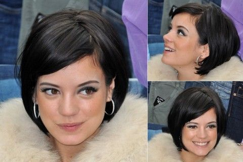 Lily Allen - Best, celebrity, bobs, bob, bobbed, hair, hairstyles, haircut, inspiration, celebs, beauty, Marie Claire