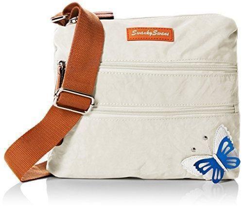 Oferta: 21.2€. Comprar Ofertas de SwankySwansEmma 3d Butterfly - Bolso bandolera mujer , color Blanco, talla barato. ¡Mira las ofertas!