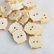 piggy scrapbook scraft cucire bottoni in legno fa... – EUR € 0.78