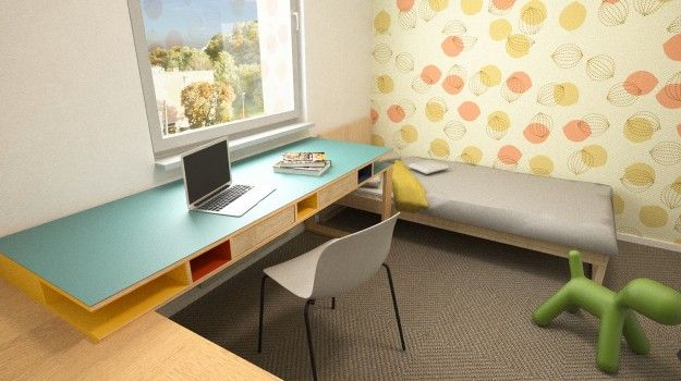 Návrh interiéru detskej izby - 3-izbový byt, rekonštrukcia, Dibrovova, Stará Turá - Interiérový dizajn / Children´s room interior by Archilab