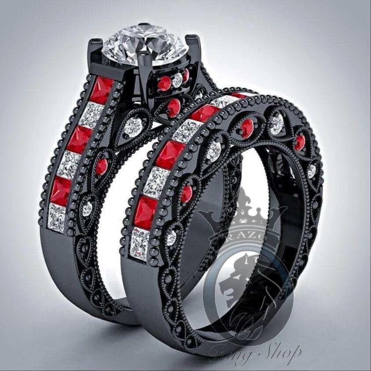 122 best harley quinn joker wedding images on pinterest for Harley quinn and joker jewelry