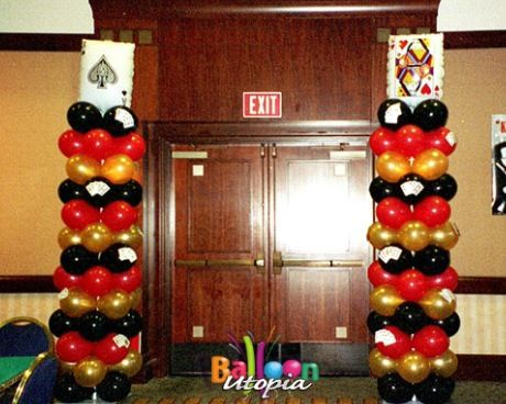 771 best images about balloons casino theme on pinterest for Decoration poker