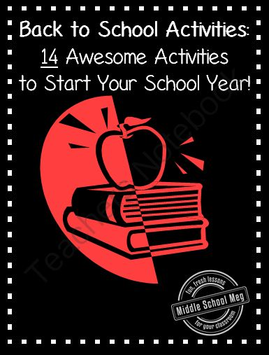 Back to School Activities - 14 Awesome Activities to Start Your Year! from Middle School Meg on TeachersNotebook.com -  (100 pages)  - back-to-school, activity, games, fun, icebreakers, introduction, first days, elementary, middle school, high school, procedures, rules, behavior contracts, classroom management, behavior management