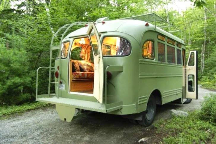 Groovy madeover Maine Bus is a funky new cottage on wheels http://bit.ly/1iqAlZs