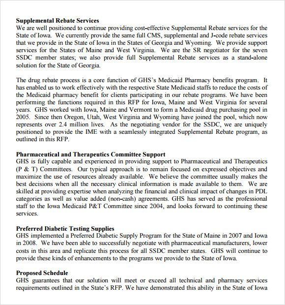 Rfp Response Template In 2020 Proposal Templates Rfp Response