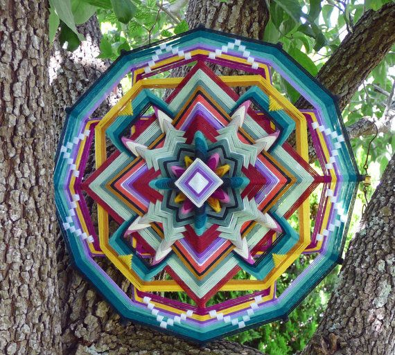 Ojo de Dios. Simple version - 4 point. Butterfly World, an 18 inch, 12-sided…