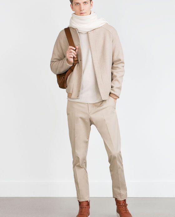 Image 1 of WOOL BOMBER JACKET from Zara