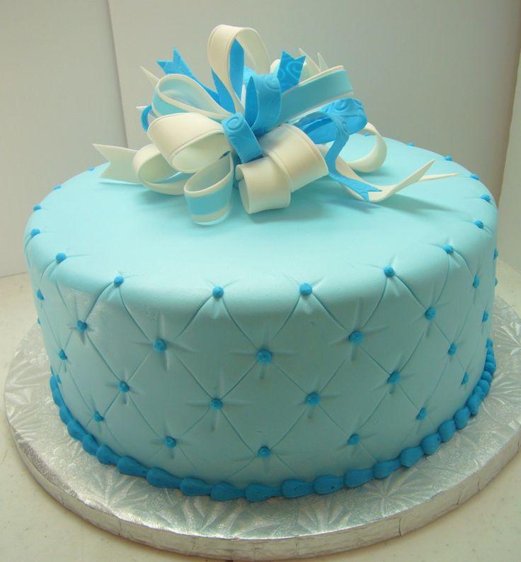 Blue Baby Shower Cake Baby shower Pinterest The o