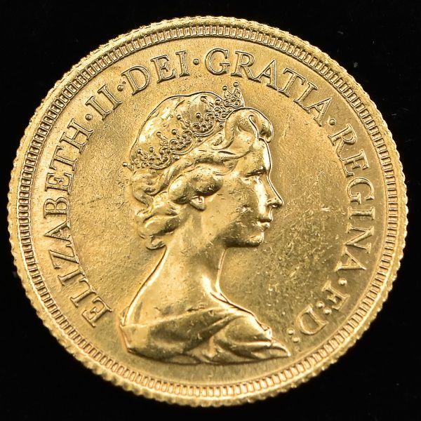 Numismática: Moeda de Ouro, Inglaterra, Ano 1980, Valor..