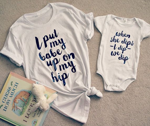 Hey, I found this really awesome Etsy listing at https://www.etsy.com/listing/276608018/mommy-me-set-when-i-dip-she-dips-we-dip