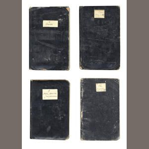 WORLD WAR ONE - DIARIES A group of 6 pocket journals by Lieutenant Stanhope Thuillier Anderson, detailing life on the Front Line [1916-1918] (6)