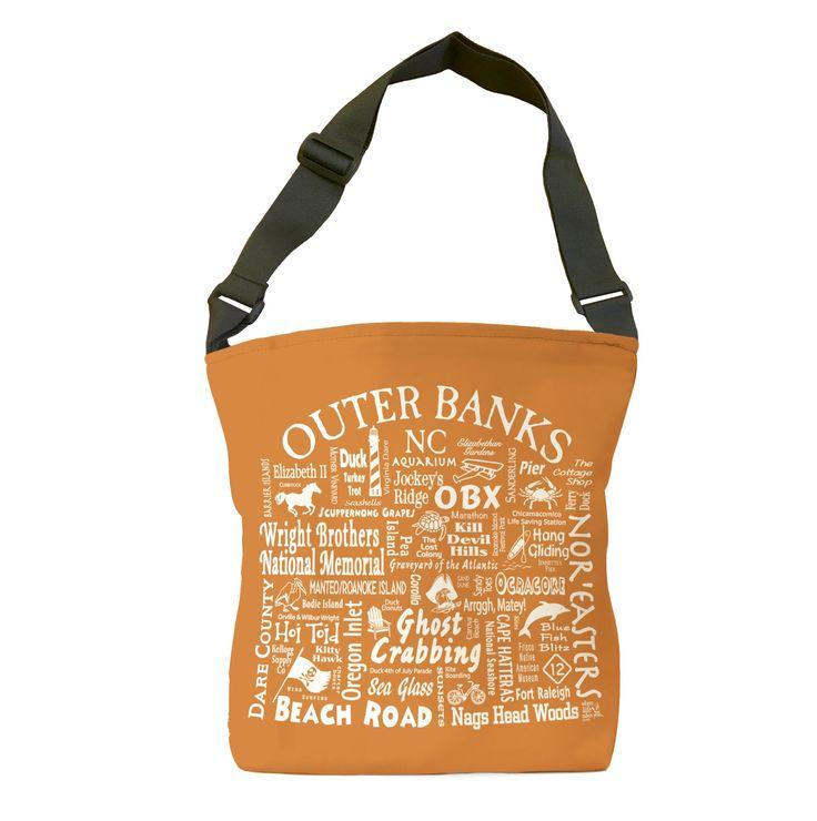 Outer Banks Location Tote Bag (orange)