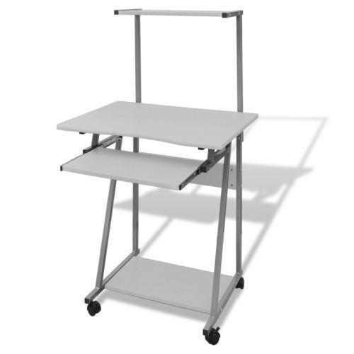Computertisch Computerwagen Schreibtisch PC-Tisch Laptop Bürotisch weiß #Ssparen25.com , sparen25.de , sparen25.info
