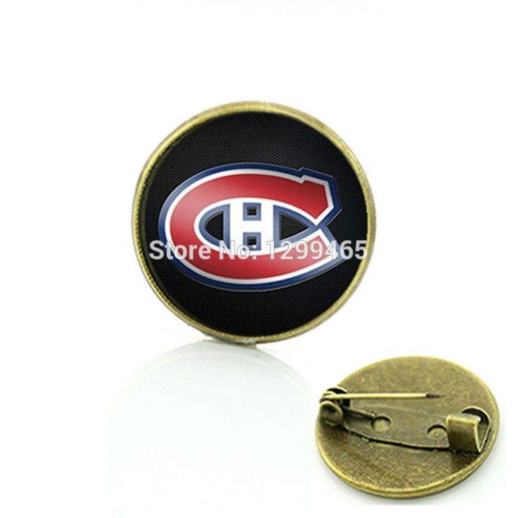 Классическая коллекция монреаль канадиенс хоккей брошь командный вид спорта логотип прелести ювелирных изделий хоккейных болельщиков команда подарок дешевые pin ювелирные изделия с 490