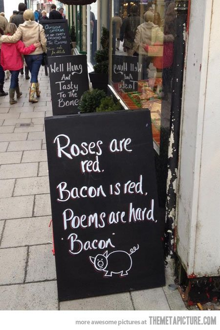 Local Butcher has a sense of humor…