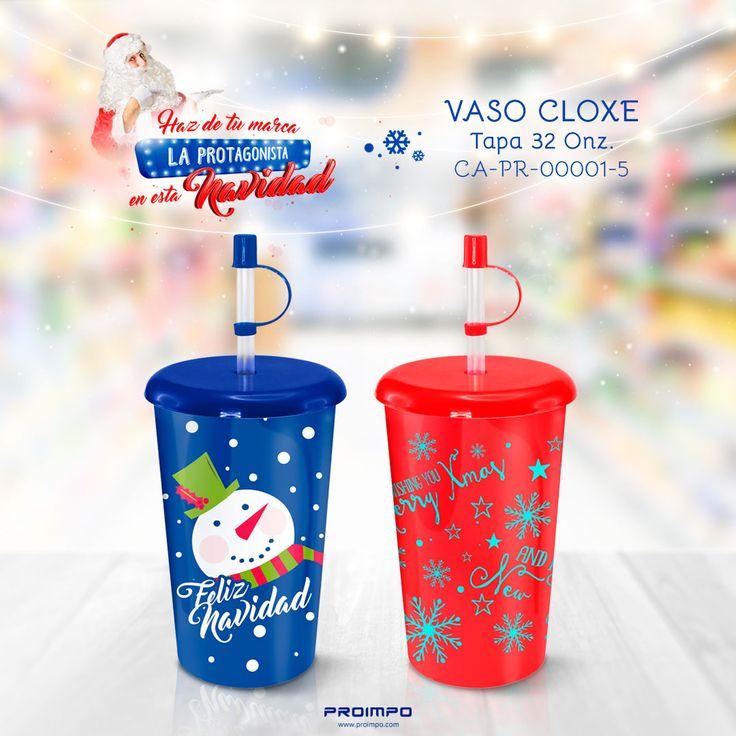 Vaso Cloxe Tapa promocional navidad..Estrategias de marketing