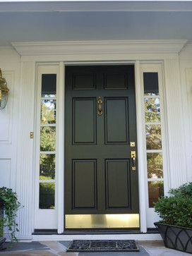 Simpson 6 Panel Wood Door with Bronze Kick Plate (Black) - contemporary - Front & Best 25+ Kick plate ideas on Pinterest | Craftsman sheets ...