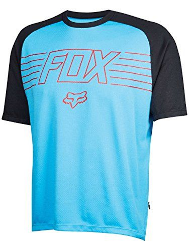 Fox Racing Ranger Prints Jersey ShortSleeve Mens Cyan M     Click image to  review more details. (This is an affiliate link) c322b2b23