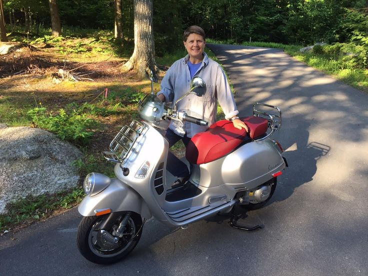 An early morning smile from Dawna in Dedham, ME with her new 2016 Vespa GTV 300 ABS in Metallic Silver. She going to love riding this around the Maine country roads. Thanks for your business Dawna...we really appreciate it! :) #vespa #vespahartford #scooter #scootercentrale #fun #summer #smile