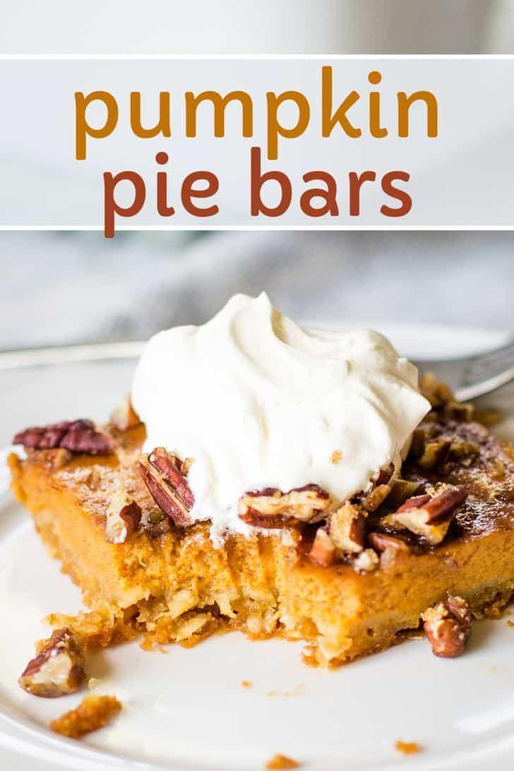 Pumpkin Pie Bars Recipe In 2020 Pumpkin Pie Bars Fall Dessert Recipes Pumpkin Recipes