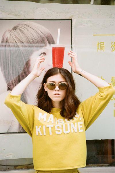 Maison Kitsune Spring/Summer 2014 featuring Heather Boo