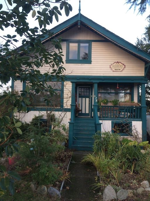 Air B & B in Nanaimo, BC. In the Charming 'Newberry Farmhouse' built in 1908 Arts and Craft Style You'll be on the adorable 2nd floor Two Cosy Bedrooms with Comfortable beds and 'Continental Breakfast' and lounge areas.'We'll even carry your bags up outside staircase !! ...
