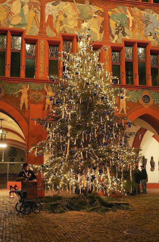 Christmas tree at Town Hall,  Basel, Switzerland Copyright: Robi rdfoto