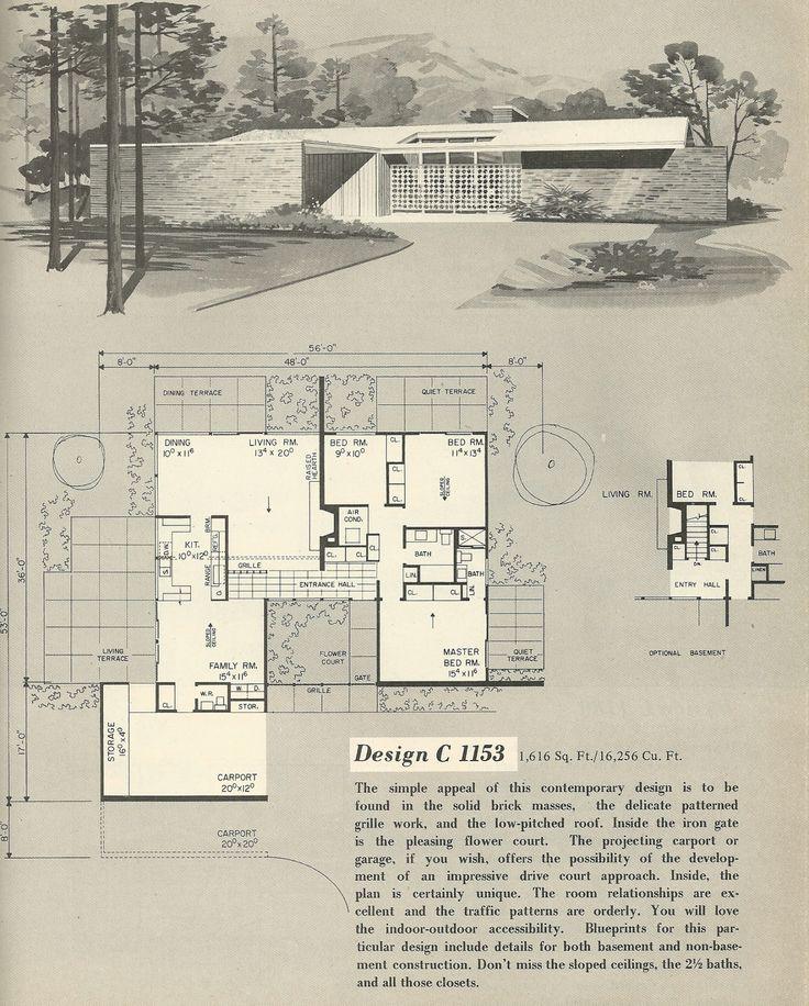 vintage house plans 1960s house plans