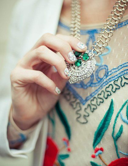Poppy Delevigne Nails (nails inc) London Fashion Week