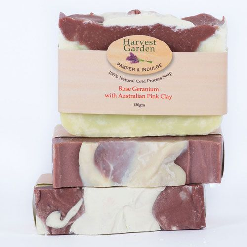 Rose Geranium & Australian Pink Clay Soap