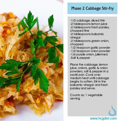 **VEGAN** Phase 2 Cabbage Stir Fry