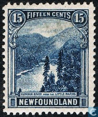 Canada (Newfoundland) Stamp 1923 - Hunber River, near Little Rapids