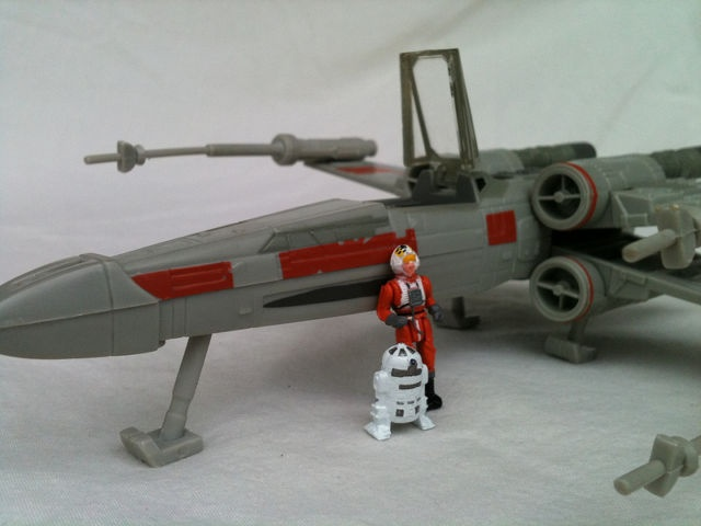 X-Wing fighter with R-2 unit. Another iPhone 3GS camera shot #starwars