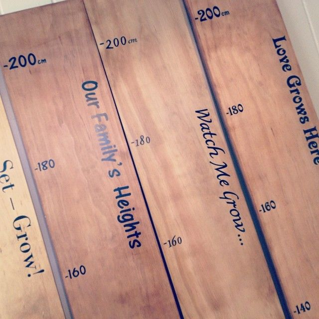 Height charts with different sayings. Made to order